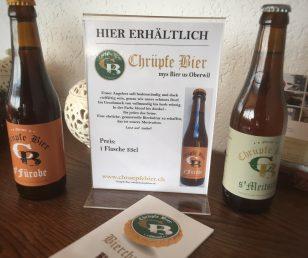 NEU das feine Chrüpfe Bier aus Oberwil.